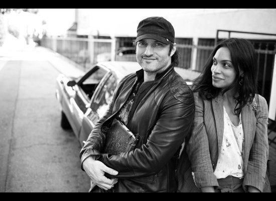 Director Robert Rodriguez and actress Rosario Dawson in Beverly Hills, California. Photographed by Estevan Oriol.