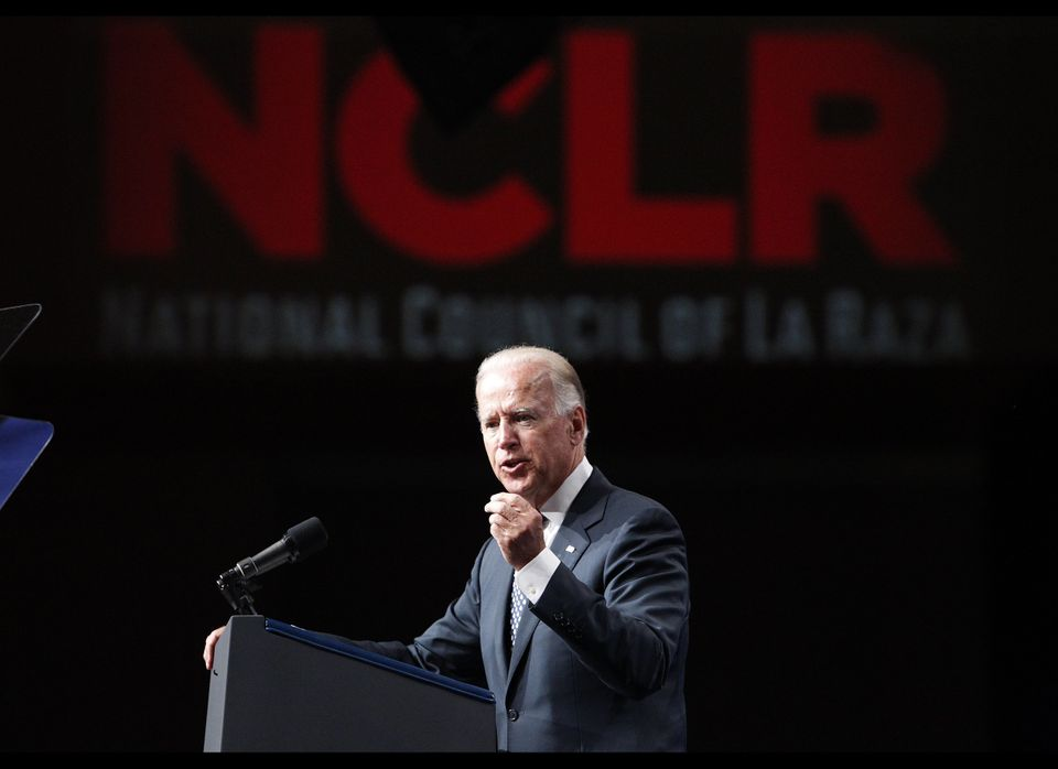 Vice President Joe Biden speaks at the National Council of La Raza convention at the Mandalay Bay Convention Center in Las Ve