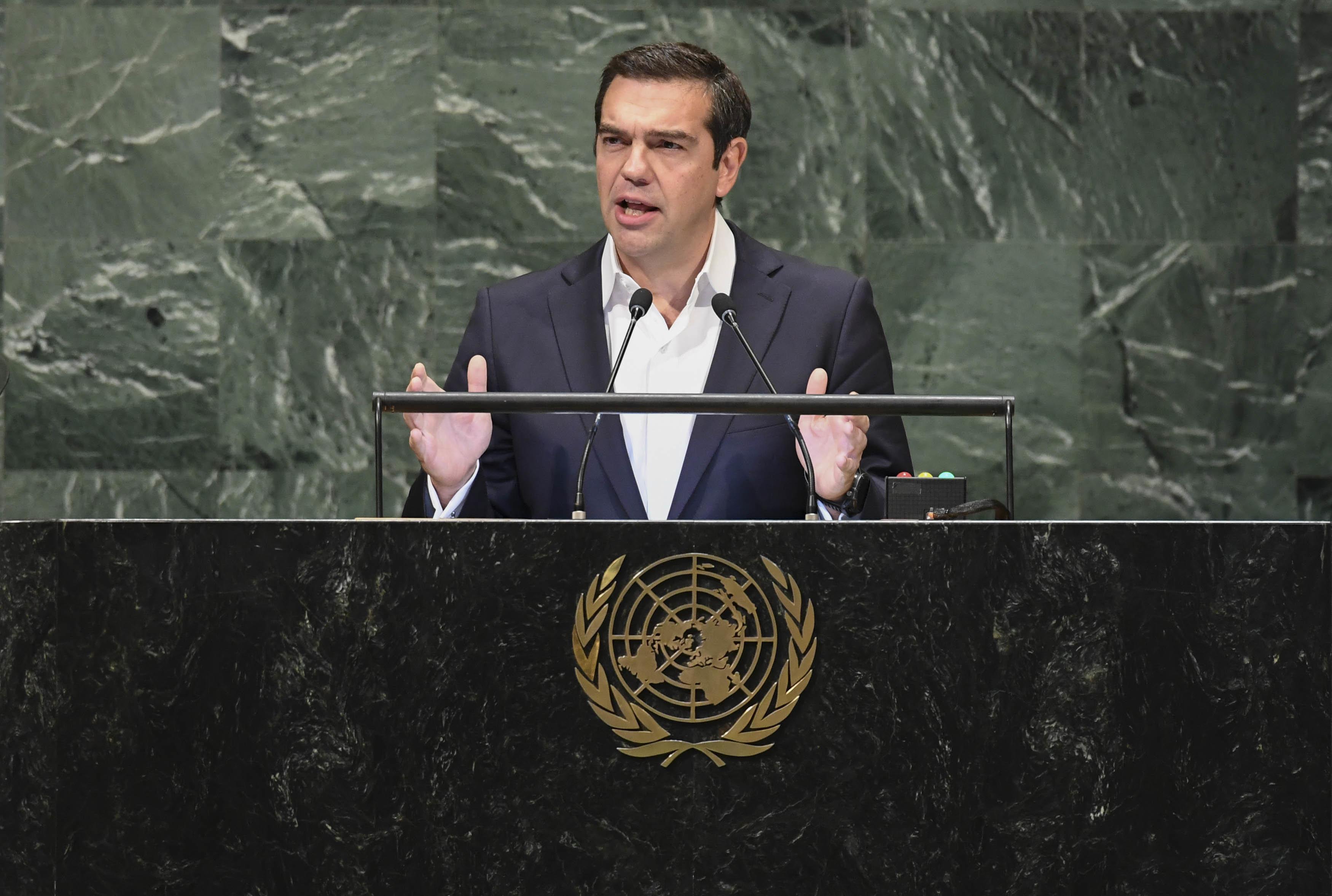 Επίθεση Τσίπρα από τη ΓΣ του ΟΗΕ κατά των εθνικιστικών δυνάμεων στις οποίες η Ελλάδα δεν