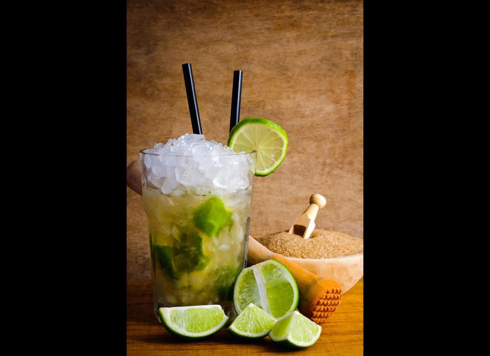 Caipirinhas, a liquor made from sugarcane, gives these drinks their distinctive flavor. In Brazil it is traditional to make c