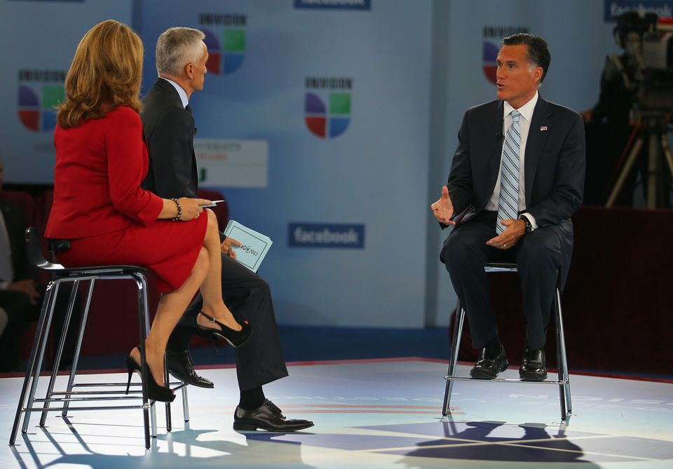 MIAMI, FL - SEPTEMBER 19:  Republican presidential candidate, former Massachusetts Gov. Mitt Romney participates in the Univi