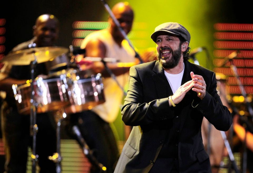 FILE - In this Feb. 27, 2012 file photo, Dominican Republic singer Juan Luis Guerra performs at the 53rd annual Vina del Mar