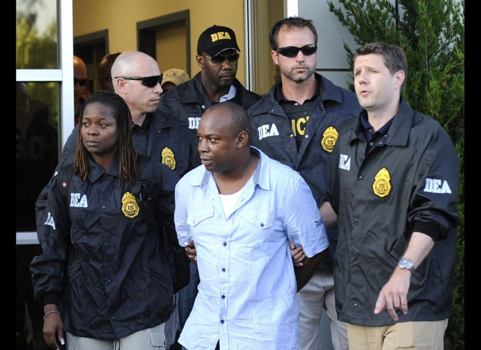 "FILE - In this June 24, 2010 file photo, DEA agents bring Jamaican gang leader Christopher ""Dudus"" Coke From Westchester Coun"