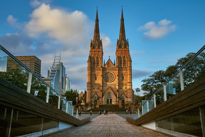St. Mary's Cathedral in Sydney, Australia.