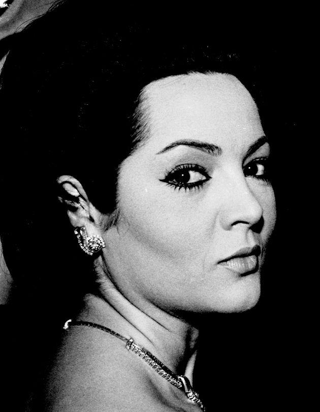The Spanish actress Sara Montiel at the premiere of her movie 'La Bella Lola 1963, Madrid, Castilla La...
