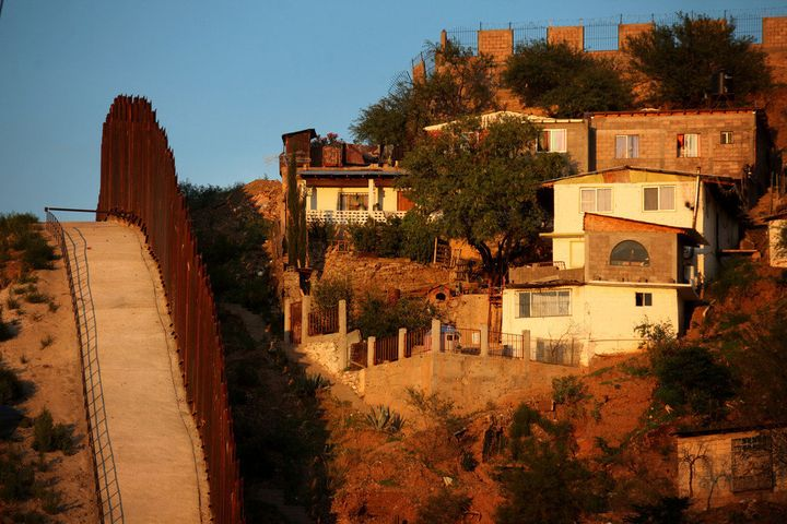 NOGALES, AZ - JULY 6:  The border wall between the U.S. and Mexico is seen July 6, 2012 in Nogales, Arizona. The president-el
