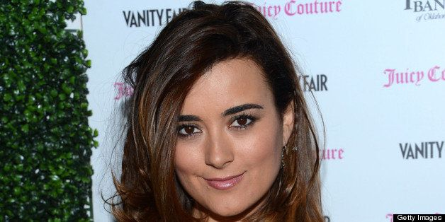 LOS ANGELES, CA - FEBRUARY 18:  Cote de Pablo attends the Vanity Fair And Juicy Couture Celebration Of The 2013 Vanities Cale