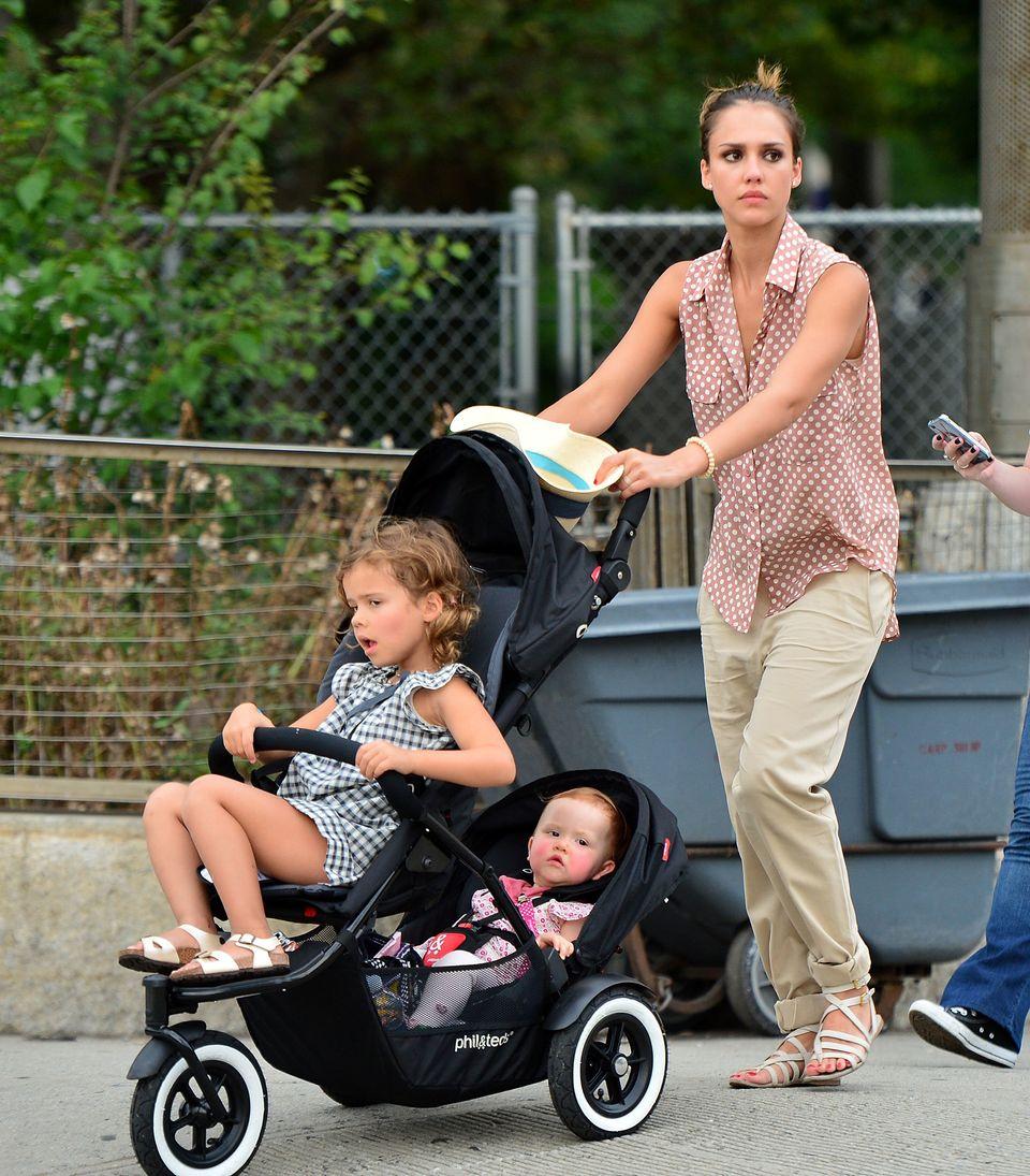 Actress Jessica Alba is the mother of Honor Marie Warren and Haven Garner Warren, both babies have very uncommon names.   (Ph