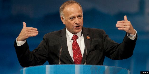 UNITED STATES - MARCH 16:  Rep. Steve King, R-IA., during the 2013 Conservative Political Action Conference at the Gaylord Na