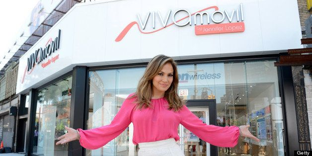 BROOKLYN, NY - JUNE 14:  (Exclusive Coverage) Jennifer Lopez shoots commercial for Viva Movil By Jennifer Lopez on June 14, 2