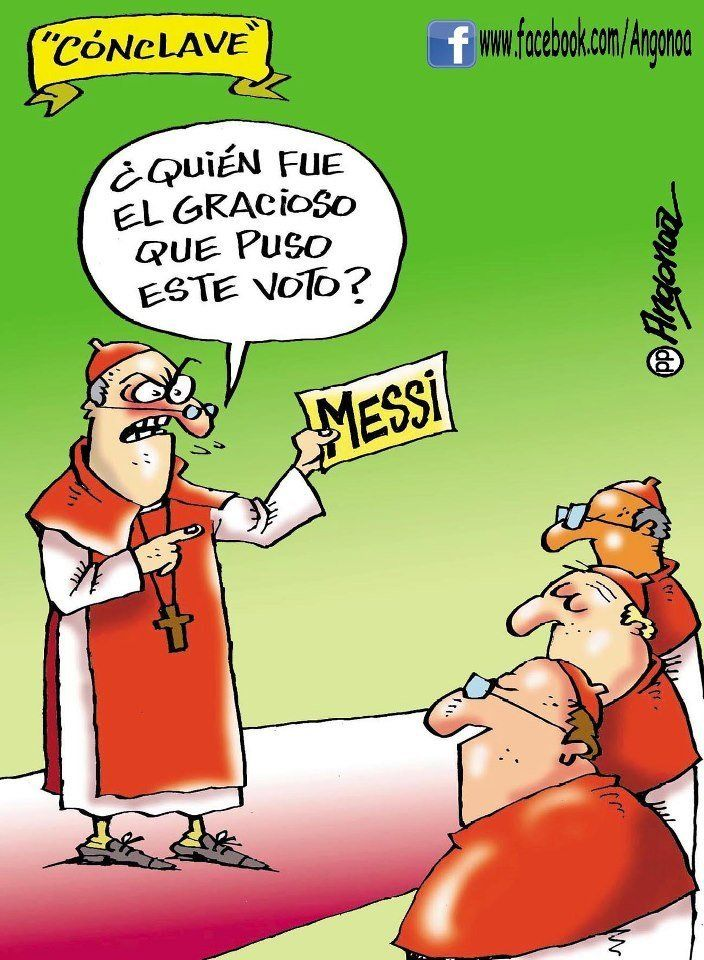 """Argentines vote for Messi as Pope.  """"Who was the joker who put this vote here?"""""""