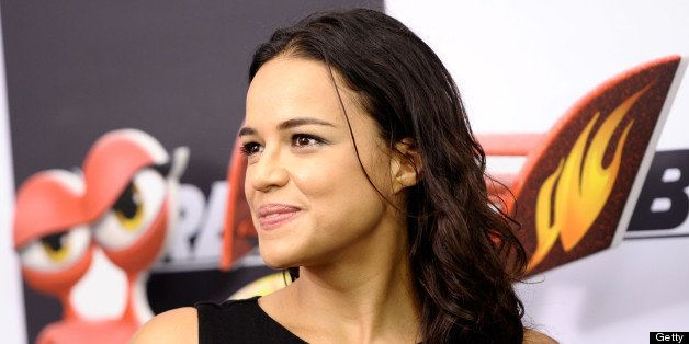 NEW YORK, NY - JULY 09:  Actress Michelle Rodriguez attends the 'Turbo' New York Premiere at AMC Loews Lincoln Square on July