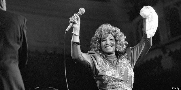 AMSTERDAM, NETHERLANDS - 14th NOVEMBER: Cuban-American singer Celia Cruz (1925-2003) performs live on stage at the Paradiso i
