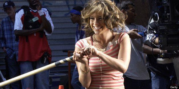 Jennifer Lopez during Jennifer Lopez Filming 'I'm Gonna Be Alright' Music Video in Harlem, New York City at 119th Street, Man