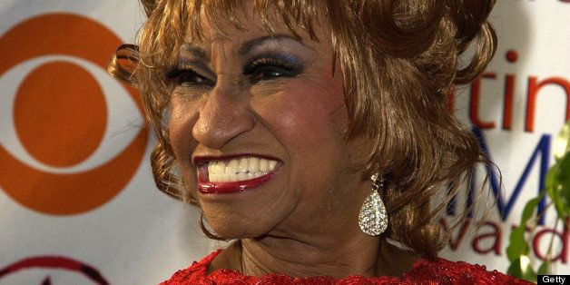 Celia Cruz during 3rd Annual Latin GRAMMY Awards - Arrivals at Kodak Theatre in Hollywood, California, United States. (Photo