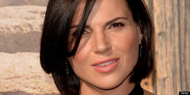 ANAHEIM, CA - JUNE 22:  Actress Lana Parrilla attends the premiere of Walt Disney Pictures' 'The Lone Ranger' at Disney Calif