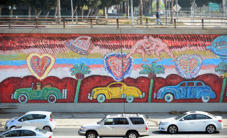 Frank Romero is an American muralist of Mexican origin, born in Los Angeles, Calif. For more than 40 years, his murals, publi