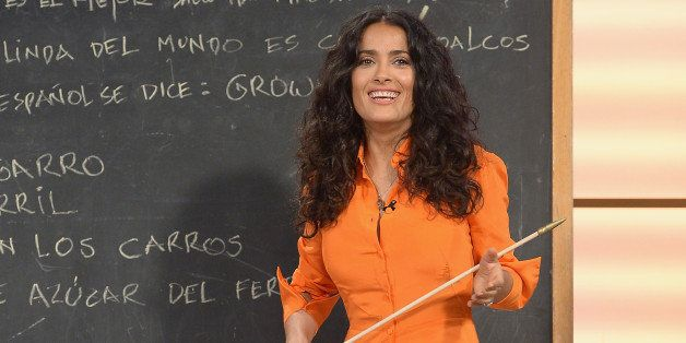 MIAMI, FL - JULY 08:  Salma Hayek of 'Grown Ups 2' cast appears on Univisions 'Despierta America' to promote the movie at Uni