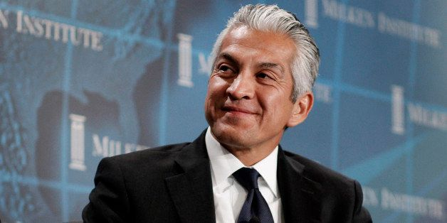 Javier Palomarez, chief executive officer and president of U.S. Hispanic Chamber of Commerce, smiles during a panel discussio