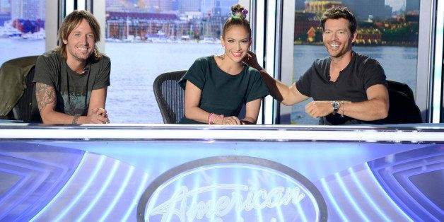 AMERICAN IDOL XIII: L-R: Judges Keith Urban, Jennifer Lopez and Harry Connick Jr. in Boston, MA.,Wednesday, Sep. 4, 2013. (Ph