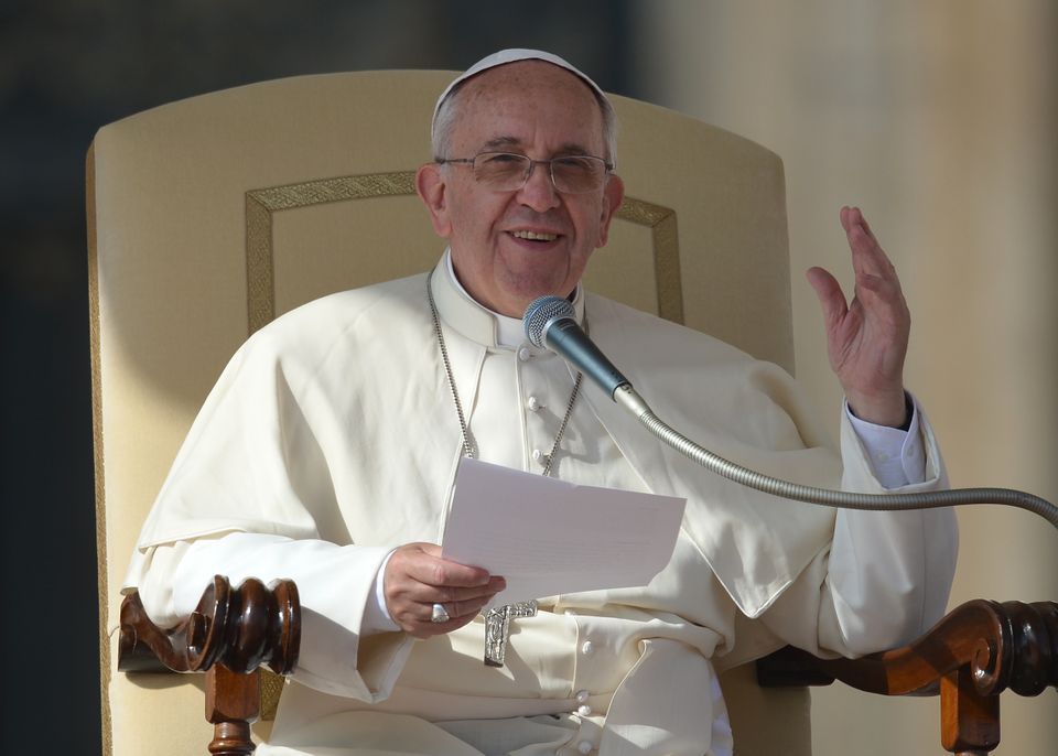 Pope Francis speaks during his general audience at St Peter's square on October 30, 2013 at the Vatican.  AFP PHOTO / GABRIEL