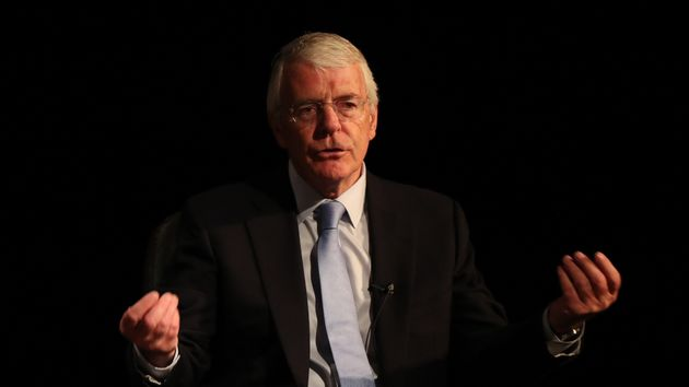 Sir John Major wasguest speaker at an annual lecture organised by David Miliband.