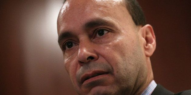 WASHINGTON, DC - OCTOBER 23:  U.S. Rep. Luis Gutierrez (D-IL) speaks during a discussion on immigration reform October 23, 20