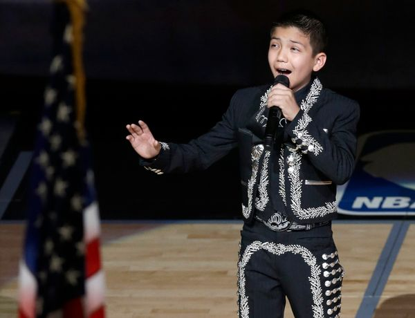 """The 11-year-old mariachi was thrust into the national spotlight when Twitter haters pounced on him, wondering why a """"Mexican"""""""