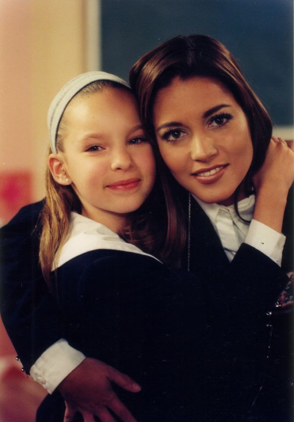 "Belinda was 11 years old. Both were acting in the telenovela ""Amigos por Siempre."""