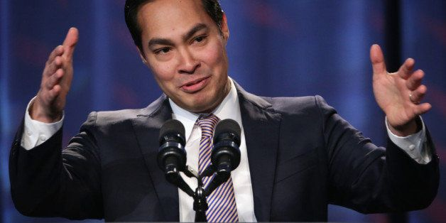 WASHINGTON, DC - JANUARY 23:  Mayor of San Antonio, Texas, Julian Castro speaks during the opening plenary session of Familie