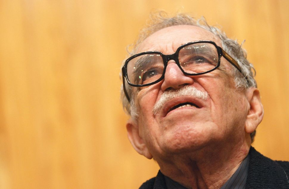 Literature Nobel Price Colombian Gabriel Garcia Marquez takes part in the Chair Julio Cortazar of the University of Guadalaja