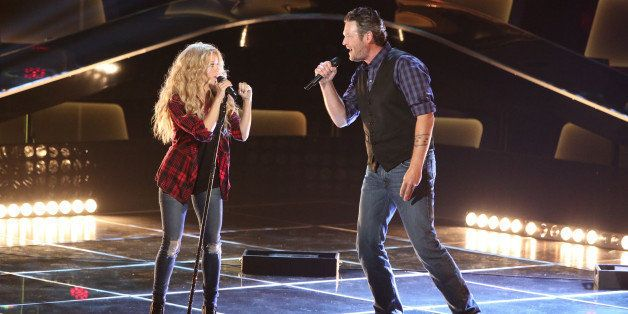 THE VOICE -- 'Blind Auditions' Episode 601 -- Pictured: (l-r) Shakira, Blake Shelton -- (Photo by: Tyler Golden/NBC/NBCU Phot