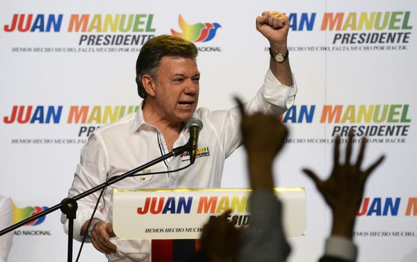 President Juan Manuel Santos is up for reelection this year, and at the moment, his odds of holding office another term look