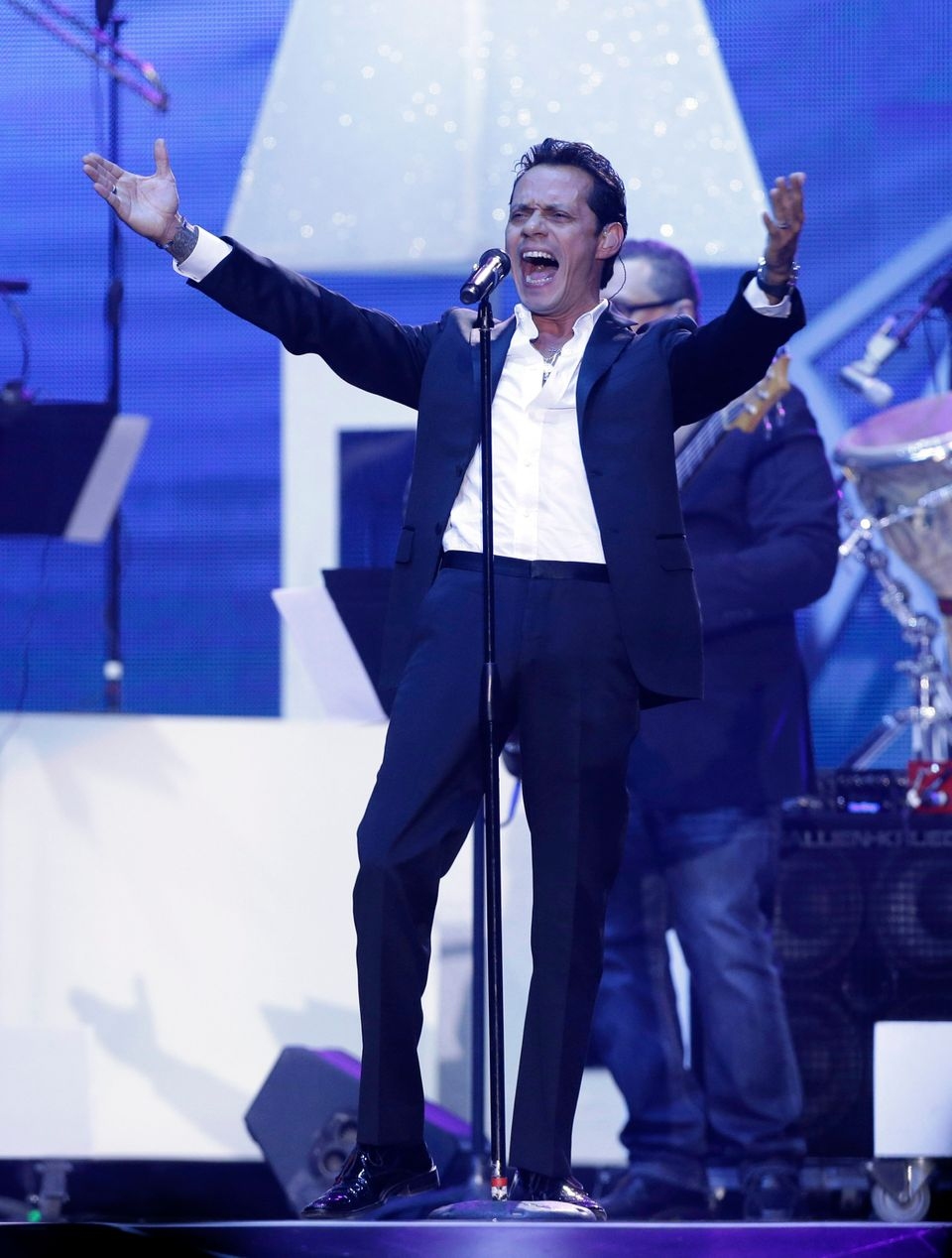 Marc Anthony performs at the Latin Billboard Awards in Coral Gables, Fla., Thursday, April 25, 2013. (AP Photo/Alan Diaz)