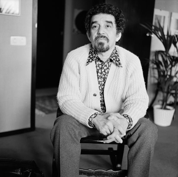 "Portrait of Colombian author and journalist Gabriel Garcia Marquez, May 1972. (Katherine Young/Getty Images)  <a href=""http:/"