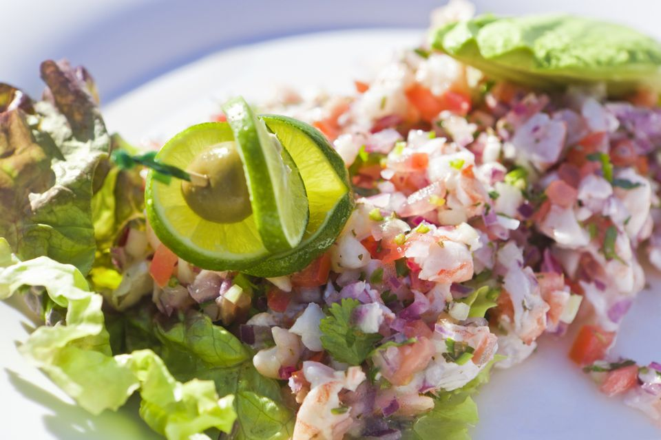 """<strong>Background:</strong> This acid-cooked fish concoction <a href=""""http://whatscookingamerica.net/History/CevicheNotes.ht"""