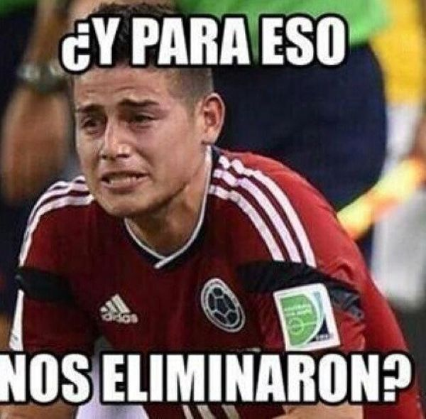 "Colombia's James Rodriguez: ""This is what you eliminated us for?"""