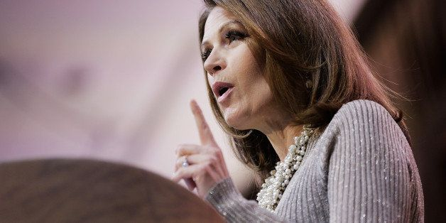 NATIONAL HARBOR, MD - MARCH 08:  U.S. Rep. Michele Bachmann (R-MN) speaks during the 41st annual Conservative Political Actio