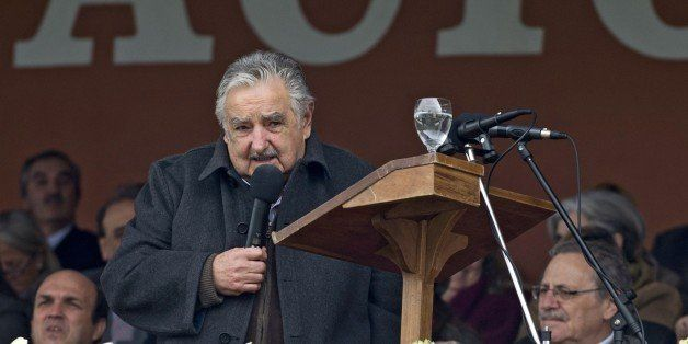 Uruguay's President Jose Mujica delivers a speech during the closing ceremony of the 'Expo Prado 2014' (Uruguayan rural expos