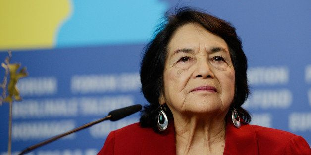 BERLIN, GERMANY - FEBRUARY 12: Dolores Huerta attends the 'Cesar Chavez' press conference during 64th Berlinale International Film Festival at Grand Hyatt Hotel on February 12, 2014 in Berlin, Germany. (Photo by Clemens Bilan/Getty Images)