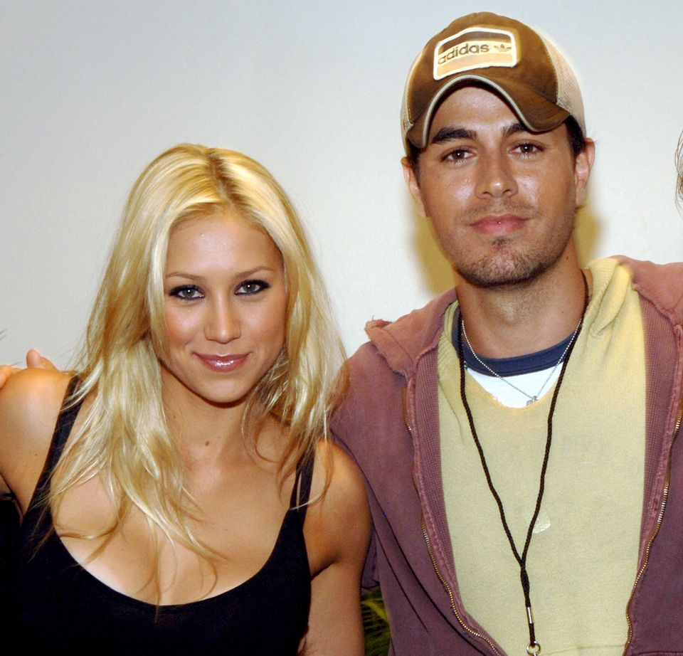 Anna Kournikova and Enrique Iglesias (Photo by Kevin Mazur/WireImage for Sony Music)