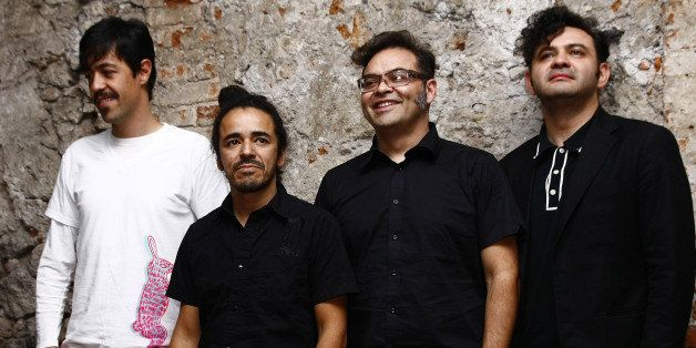 MEXICO CITY, MEXICO - APRIL 2 : The Mexican Group Cafe Tacuba poses for the camera before the press conference for their 20 a