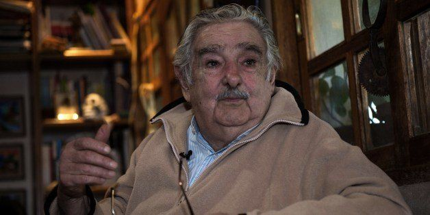 Uruguayan President Jose Mujica speaks during an interview with Agence France-Presse at his house, on the outskirts of Montev