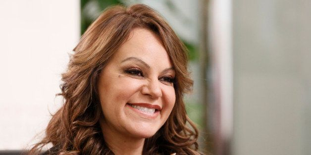 Jenni Rivera attends a press conference on Friday, Aug. 24, 2012, in Woodland Hills, California. (Photo by Todd Williamson/In