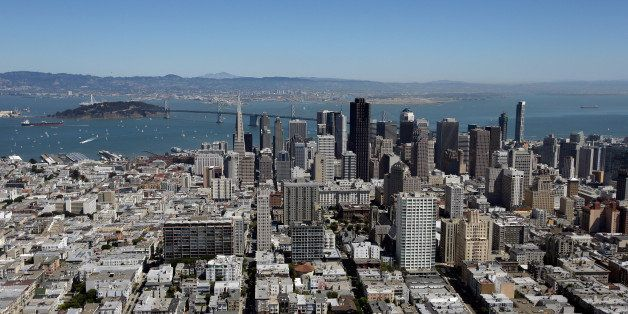 SAN FRANCISCO, CA - SEPTEMBER 07:  An aerial view of San Francisco on September 7, 2013 in San Francisco, California.  (Photo