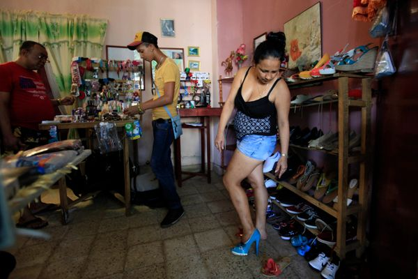 In an effort to energize a sluggish economy, the Cuban government allowed citizens to open up private businesses. <br> <br> B