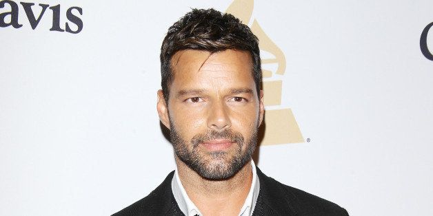 BEVERLY HILLS, CA - FEBRUARY 07:  Ricky Martin arrives at The Grammy Awards Pre-Grammy Gala held at The Beverly Hilton Hotel