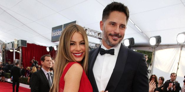 Sofia Vergara and Joe Manganiello seen at the Red Carpet Arrivals For The 21st Annual SAG Awards held at the Shrine Auditoriu