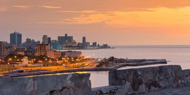 EL MORRO, HAVANA, CUBA - 2014/07/03: Havana skyline in the afternoon hours seen from the colonial fortress of El Morro  Hav