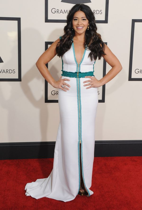 But her Grammys dress was even cooler! Chic, simple, and modern.